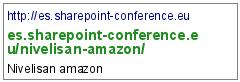 http://es.sharepoint-conference.eu/nivelisan-amazon/